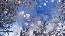 снег порхает